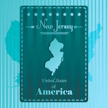 new jersey: New jersey state map label