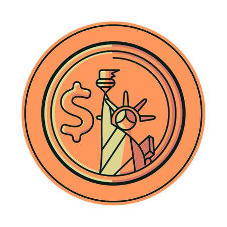 us coin: Usa coin Vectores