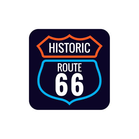 historic: Historic route 66 sign