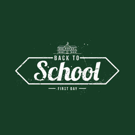 first day of school: Back to school poster