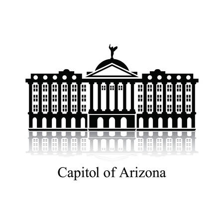 historical reflections: Capitol of arizone Illustration