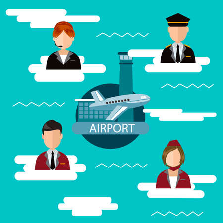 jobs: Infographic of airport jobs