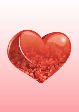 exposicion: Doble exposición de corazón Vectores