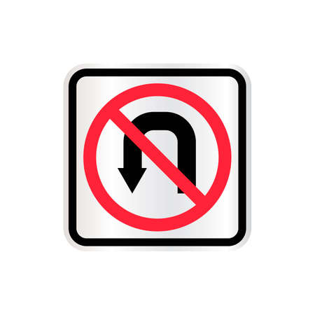 u turn sign: No u turn sign