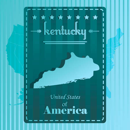 kentucky: Kentucky state map label