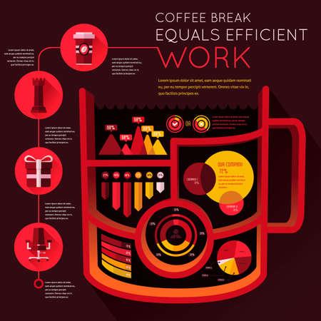 equals: Arbeitseffizienz Infografik Illustration