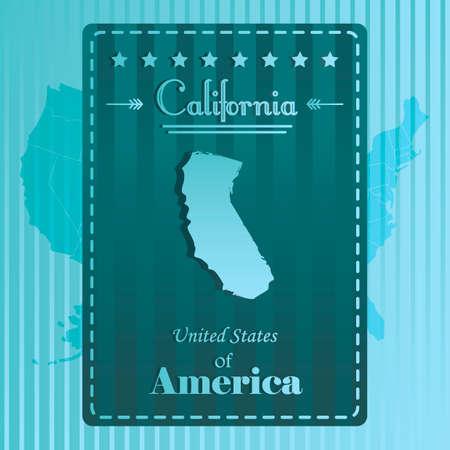 california state: California state map label