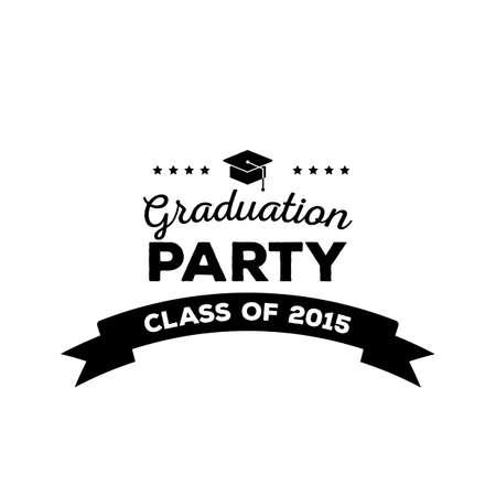 graduation party: Graduation party label
