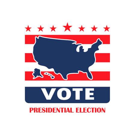 Presidential election label Illustration