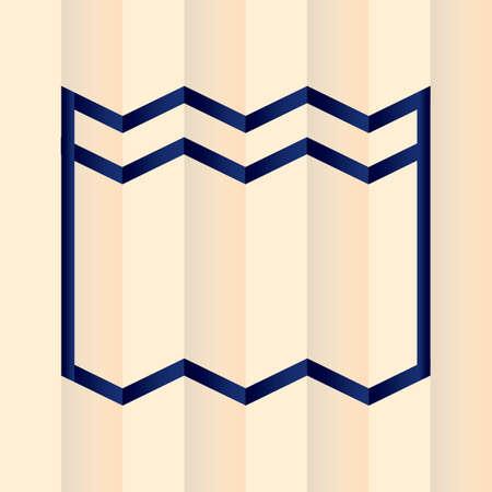 paper fold: Paper fold background Illustration