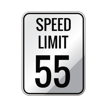 limit: Speed limit 55 sign
