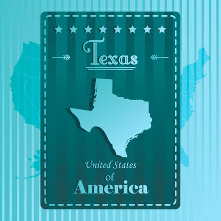 texas state: Texas state map label