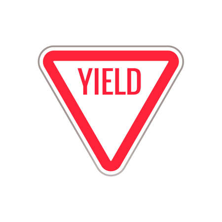 yield sign: Yield road sign