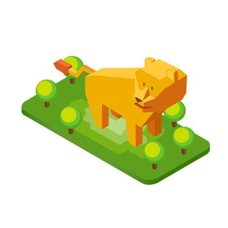 lioness: Isometric lioness