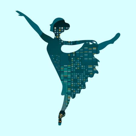 exposicion: Doble exposici�n de bailarina de ballet