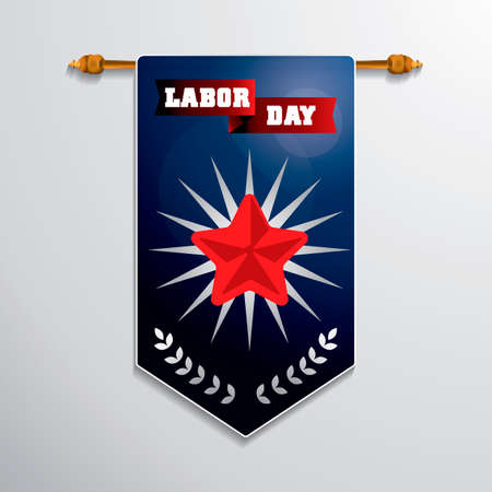 pennant: Labor day hanging pennant