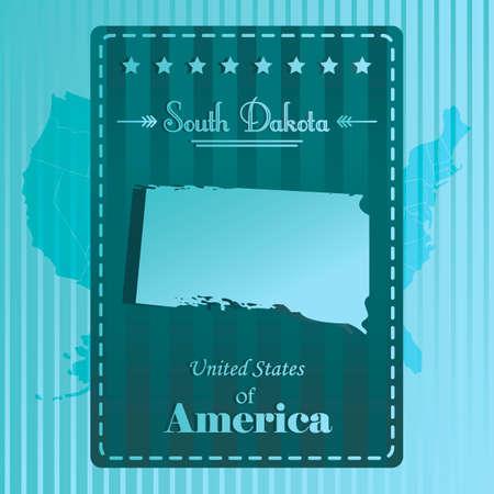 dakota: South dakota state map label