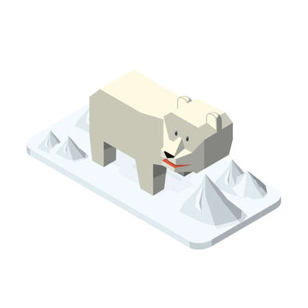 Isometric polar bear