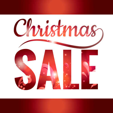 double exposure: Double exposure of christmas sale text with abstract design Illustration