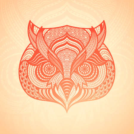 nocturnal animal: Intricate owl