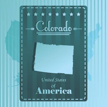 colorado: Colorado state map label