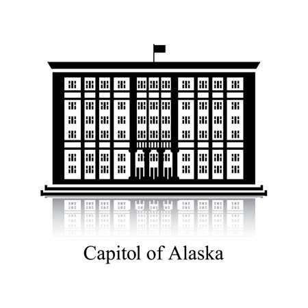 alaska: Capitol of alaska Illustration