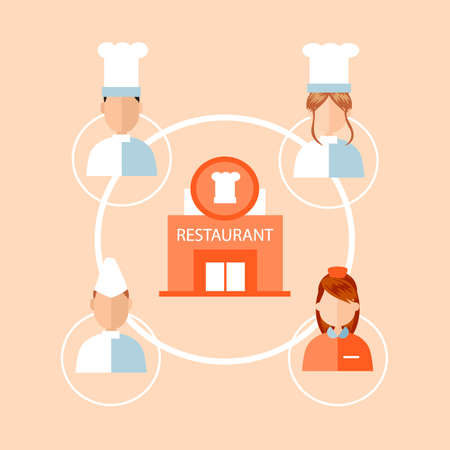 occupations: Infographic of restaurant occupations Illustration