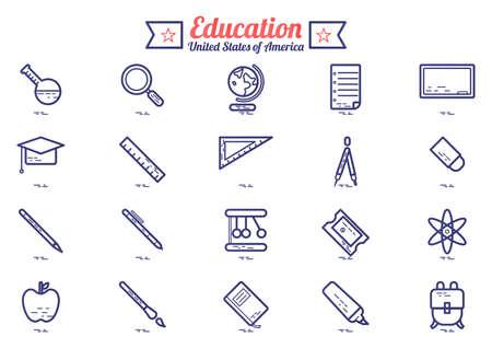 lightweight: Education icons set