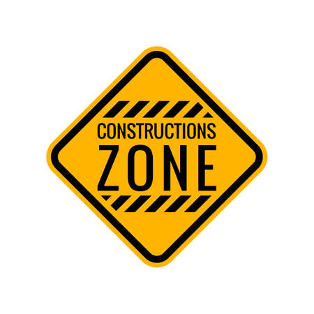 in the zone: Construction zone sign Illustration