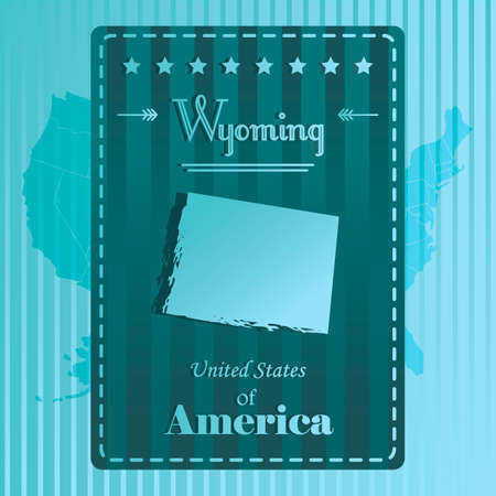 wyoming: Wyoming state map label
