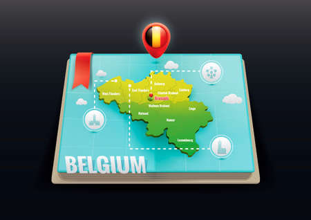 Belgium map Illustration
