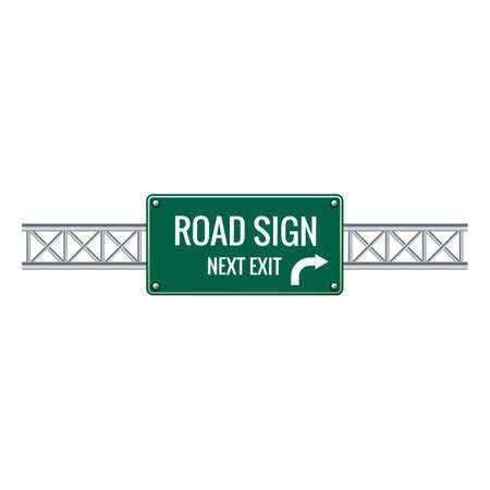 znak drogowy: Znak drogowy obok wyjścia