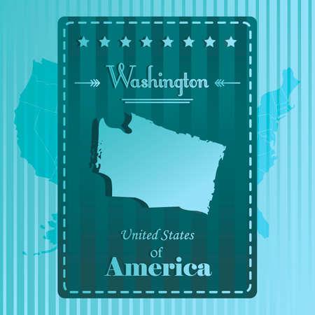 washington state: Washington state map label