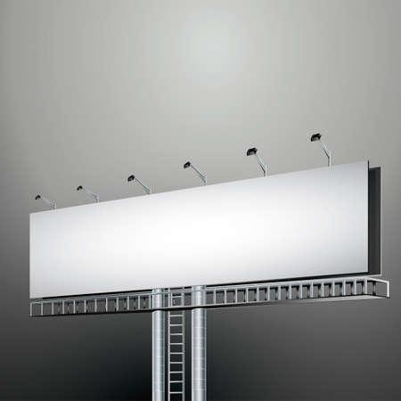 advertising billboard: Advertising billboard Illustration