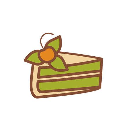 cake slice: Cake slice Illustration