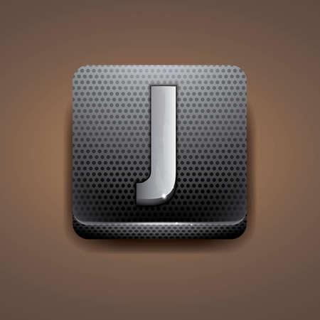 consonant: Alphabet J Illustration