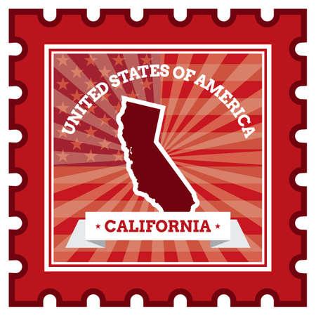 sello postal: California sello de correos