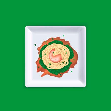 spaghetti bolognese: Spaghetti Illustration