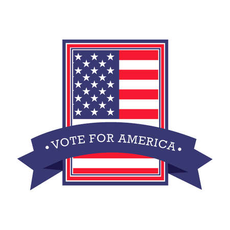 vote: USA vote label Illustration
