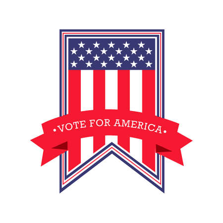vote: USA vote pennant Illustration