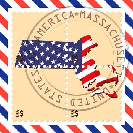 massachusetts: Massachusetts stamp