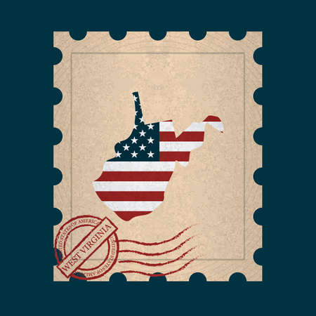 postage: West virginia postage stamp