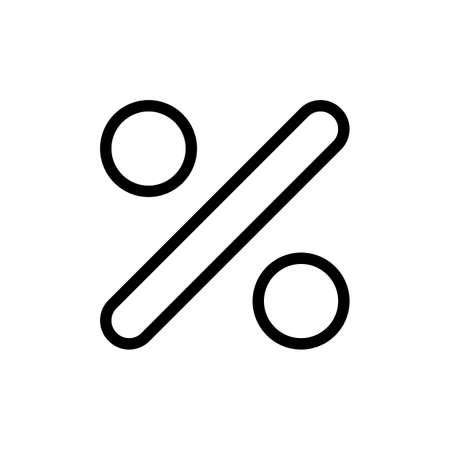 percentage sign: Percentage sign Illustration