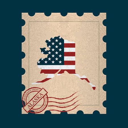 postage stamp: Alaska postage stamp