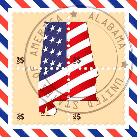 Alabama: Alabama stamp