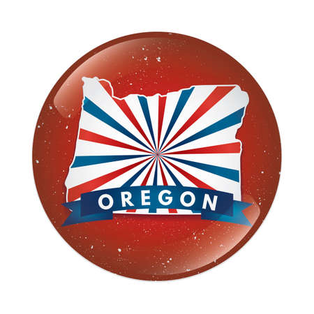 oregon: Oregon map button