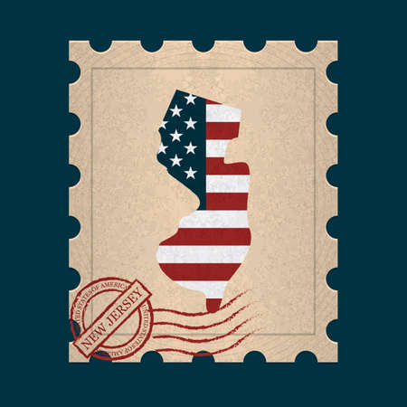 postage stamp: New jersey postage stamp