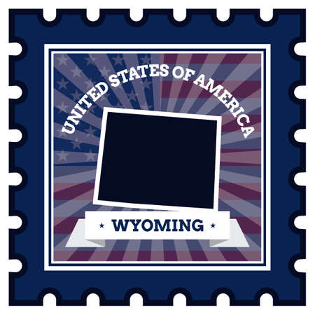 postage stamp: Wyoming postage stamp