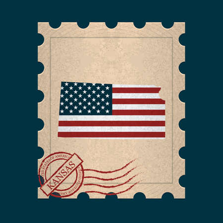 postage stamp: Kansas postage stamp