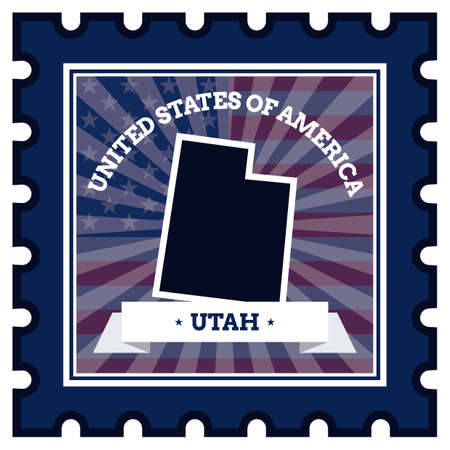 sello postal: Utah sello de correos